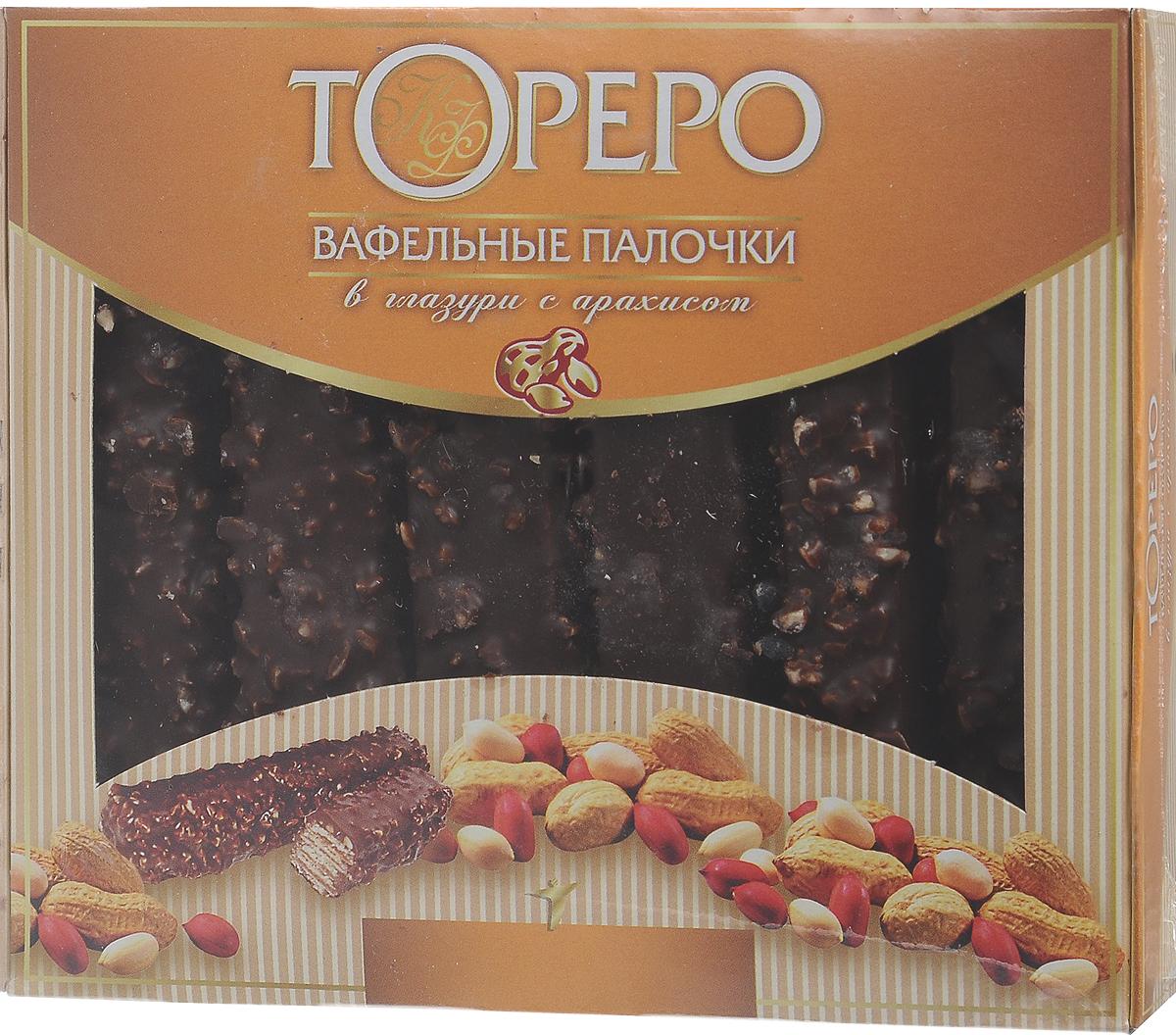 Тореро вафельные палочки в глазури с арахисом, в коробке, 220 г тореро вафли со сливочным ароматом 180 г