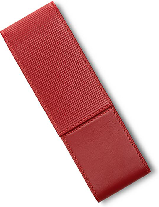 Lamy Чехол для ручки A315 цвет красный1325583Чехол на две ручки из высококачественной кожи наппа. С разделителями внутри. Закрывается с помощью магнита. Верхняя крышка имеет характерное бороздчатое тиснение. Цвет: красный