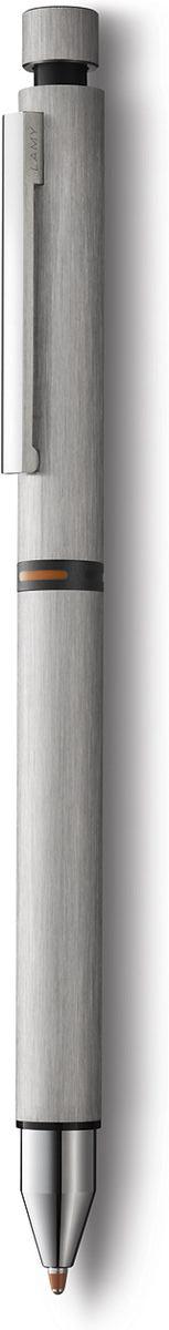 Lamy Ручка мультисистемная Cp1 M21 цвет корпуса серебристый4001280Элегантная модель 3 в одном от дизайнера Герда А. Мюллера – создателя знаменитой ручки Lamy 2000.Тонкий цилиндрический корпус из нержавеющей стали с брашинг-полировкой. На корпусе стальной клип сильной фиксации.Пишущая система: черный шариковый стержень, стержень-маркер оранжевого цвета, а также автоматический карандаш с грифелем 0,5 мм. Подколпачком кнопки активации грифеля находится ластик.Стержни подаются с помощью поворотного механизма корпуса, на котором имеется цветовая индикация.Используется со стержнями Lamy M21, стержнем-маркером Lamy М55, грифелями Lamy M41 и ластиком Lamy Z15.Комплектация: подарочный футляр, гарантия, буклет.Дизайн: Герд А. МюллерИстория бренда Lamy насчитывает более 80-ти лет, а его философия заключается в слогане Дизайн. Сделано в Германии. Компания получилаболее 100 самых престижных дизайнерских наград. Все пишущие инструменты Lamy производятся на фабрике в Гейдельберге (Германия).