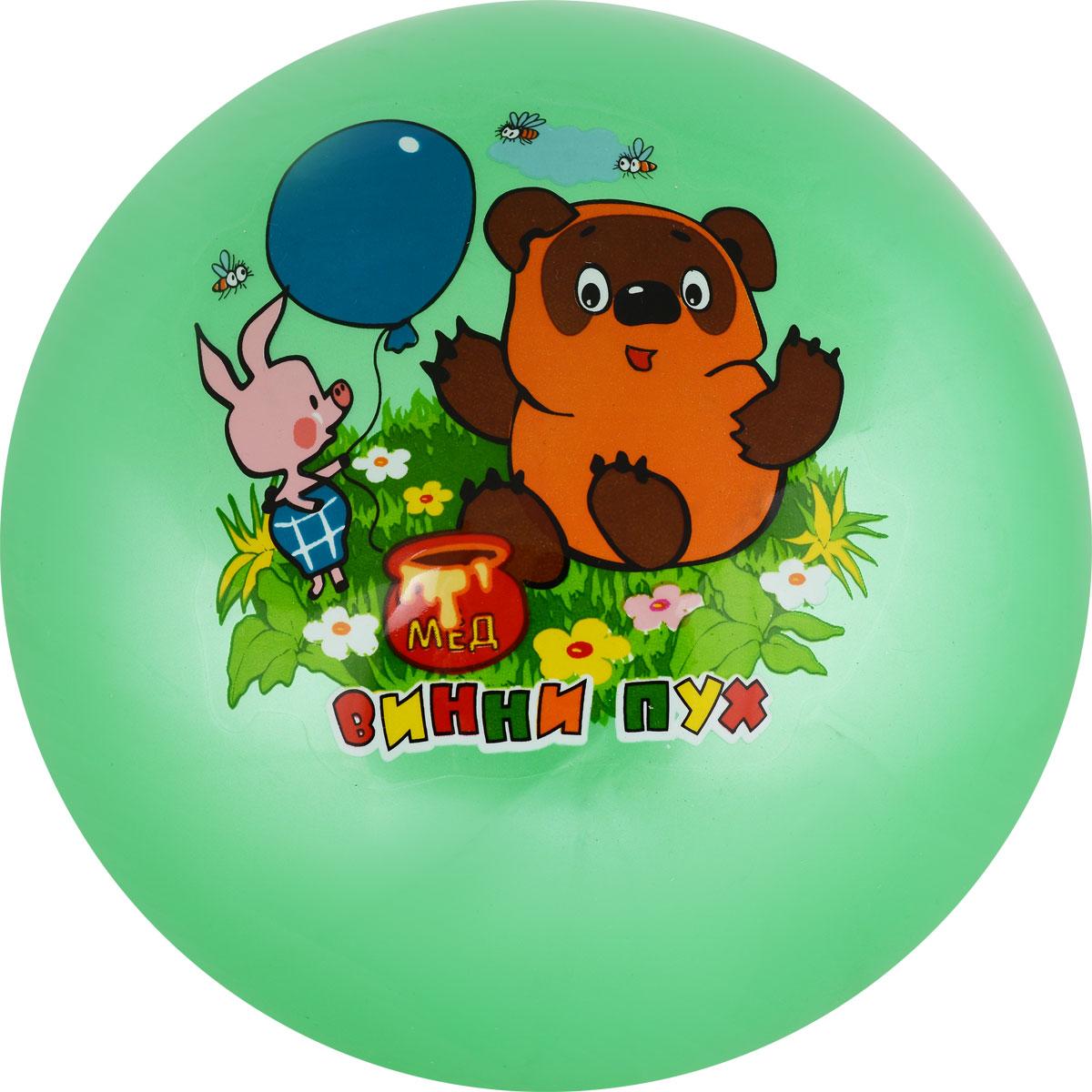 Играем вместе Мяч Винни-Пух цвет зеленый 23 см