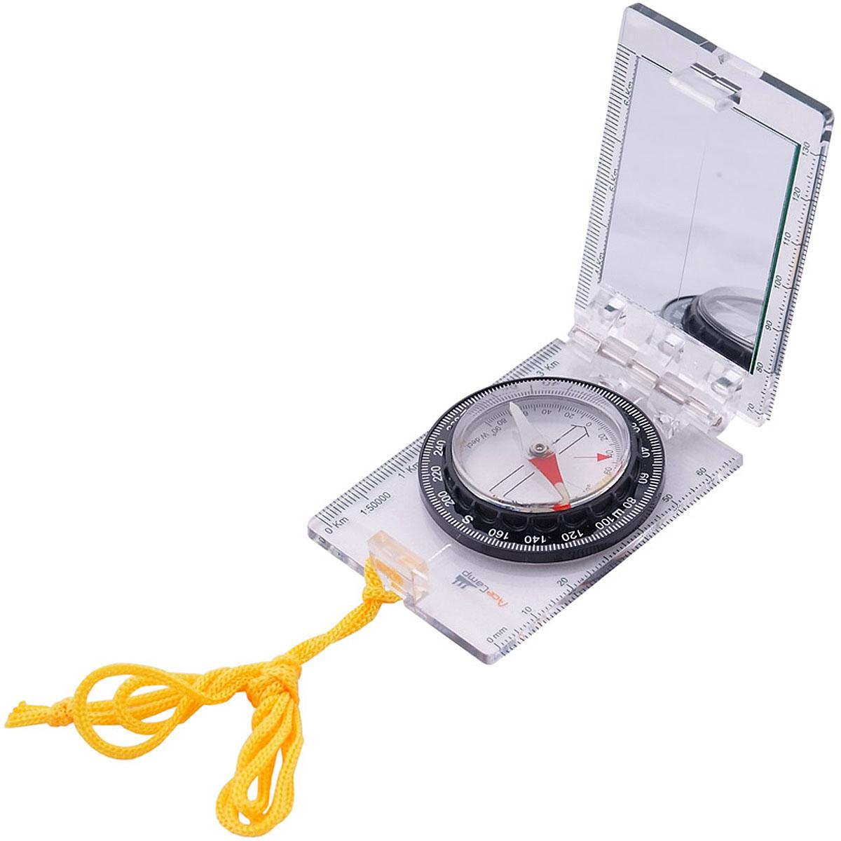 Компас AceCamp складной, с зеркалом, цвет: прозрачный. 3114 acecamp 1576 portable outdoor stainless steel foldable spork silver