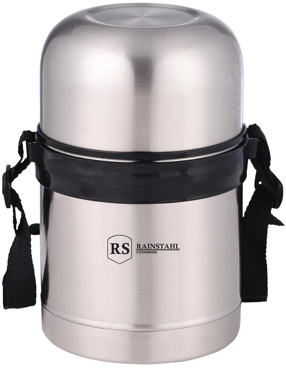Термос Rainstahl, с широким горлом, цвет: стальной, 0,5 л. 7732-50RS\TH7732-50RS\THТермос универсальный с широким горлом. Небьющийся. Убирающаяся ручка. Откручивающаяся пластмассовая пробка. Изолированная чашка-крышка с экстра-чашкой внутри. Сохраняет температуру горячих блюд около 8-ми часов, а холодных - 24 часа. Внутренняя колба из нержавеющей стали. Легко мыть.