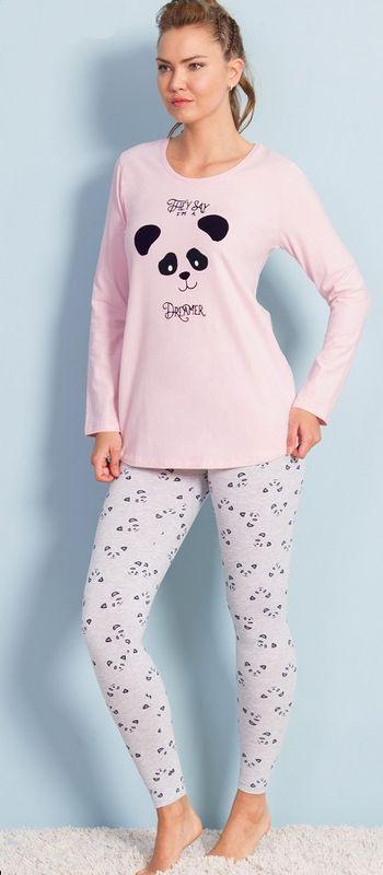 Домашний комплект женский Vienetta's Secret Панда, цвет: розовый. 706079 2064. Размер XL (50) soft secret леггинсы