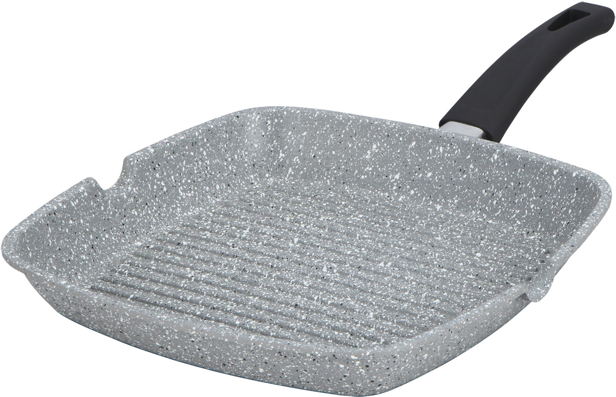 Сковорода-гриль Bohmann, с мраморным покрытием, цвет: серый, 24 х 24 см. 1001-24BHMRB1001-24BHMRBАлюминиевая сковорода-гриль. Мраморное антипригарное покрытие. можно жарить или обжаривать с небольшим количеством масла. Подходит для всех типов бытовых плит.