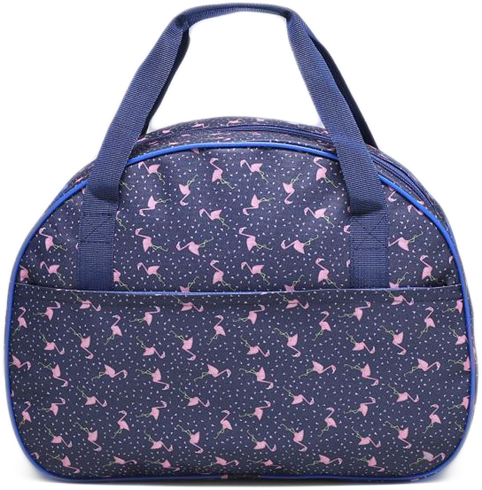 Сумка дорожная Mitya Veselkov Розовый фламинго на синем. 21265732126573Маленькие, казалось бы, незначительные элементы зачастую завершают, дополняют образ, подчёркивают статус, стиль и вкус своего обладателя. Эта дорожная сумка - одна из подобных деталей. Это вещь достойного качества, которая может стать Вашим любимым аксессуаром.