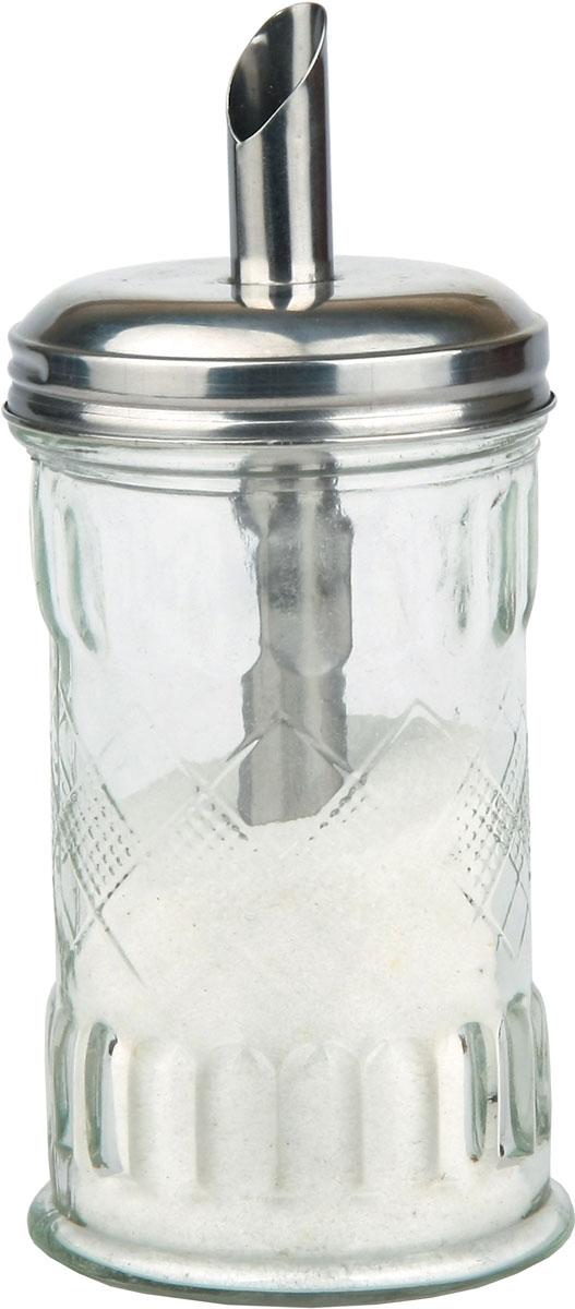 Сахарница Bohmann, цвет: прозрачный, 300 мл01403BHGВеликолепная сахарница выполнена из высококачественногостекла и нержавеющей стали. Изделие оснащено крышкой-дозатором, благодарячему сахар удобнее насыпать. Эксклюзивный дизайн и функциональность сахарницы сделает ее незаменимой налюбой кухне. Размер: 7,6 х 17 см.