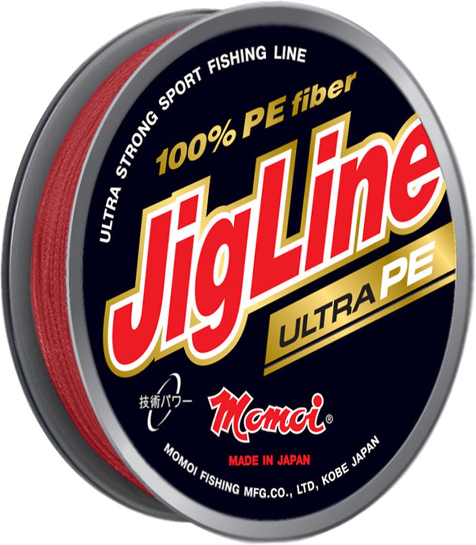Шнур плетеный Momoi Fishing JigLine Ultra PE, цвет: рубин, 0,24 мм, 18,0 кг, 100 м3474Шнур плетеный JigLine Ultra PE- классическая серия 4-х жильных плетеных шнуровPremiumкласса100% PE DYNEEMA, которая побеждала в Европейских конкурсах. Хорошо опробована и известна не тольколюбителям троллингаи джига, но и ультралайта в диаметрах 0,05-0,10 мм.