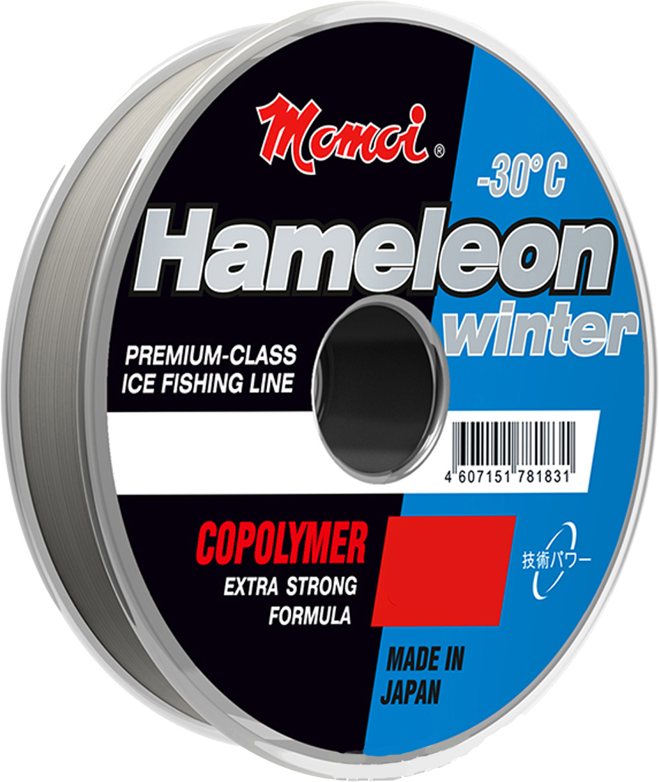 Леска зимняя Momoi Fishing Hameleon Winter, 0,23 мм, 6,0 кг, 30 м4263Высокопрочная зимняя рыболовная лескасоспециальнымсоставом основной жилы, эффектом незаметности в воде и повышенной чувствительностью при подсечке.Новейшая разработка японской компании, в которой нейлоновый монофиламент заменен на более прочный многослойныймалорастяжимый материал cополимер, коэффициент преломления мононити которого аналогичен коэффициенту преломления воды.Специальный составпокрытия против обмерзания с эффектомHameleonпозволяет использовать леску при температуре до минус 30 С, при этом чувствительность лески на большой глубинене теряется.