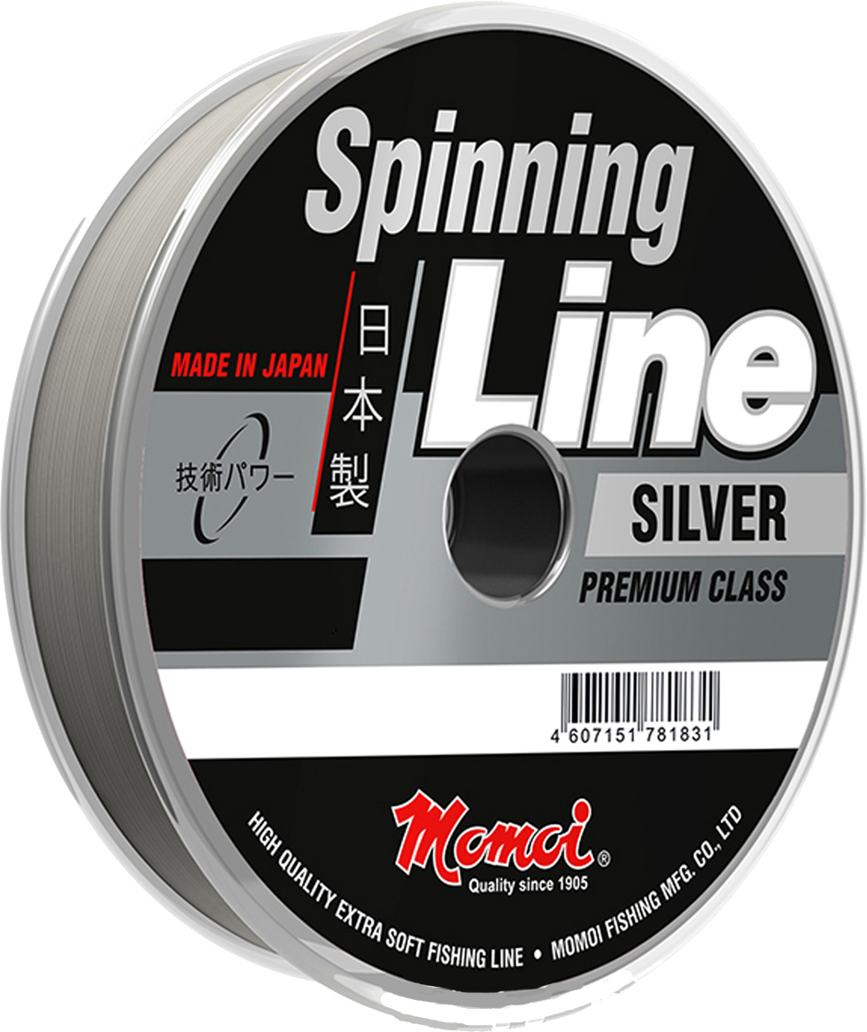 Леска Momoi Fishing Spinning Line Silver, 0,35 мм, 14,0 кг, 150 м воблер jackall timon tricoroll 67s