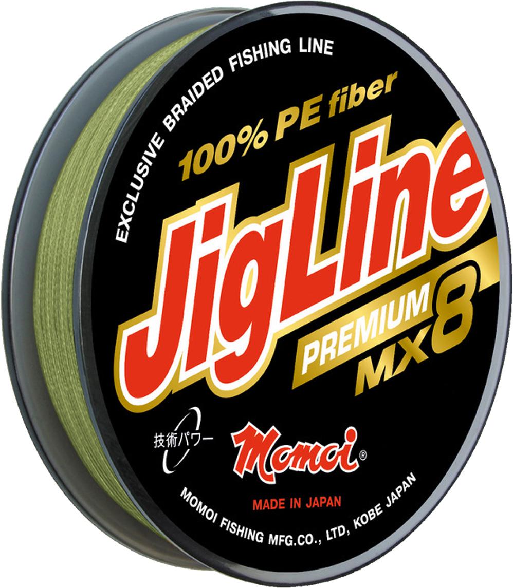 Шнур плетеный Momoi Fishing JigLine Premium WX8, 0,21 мм, 18 кг, 100 м