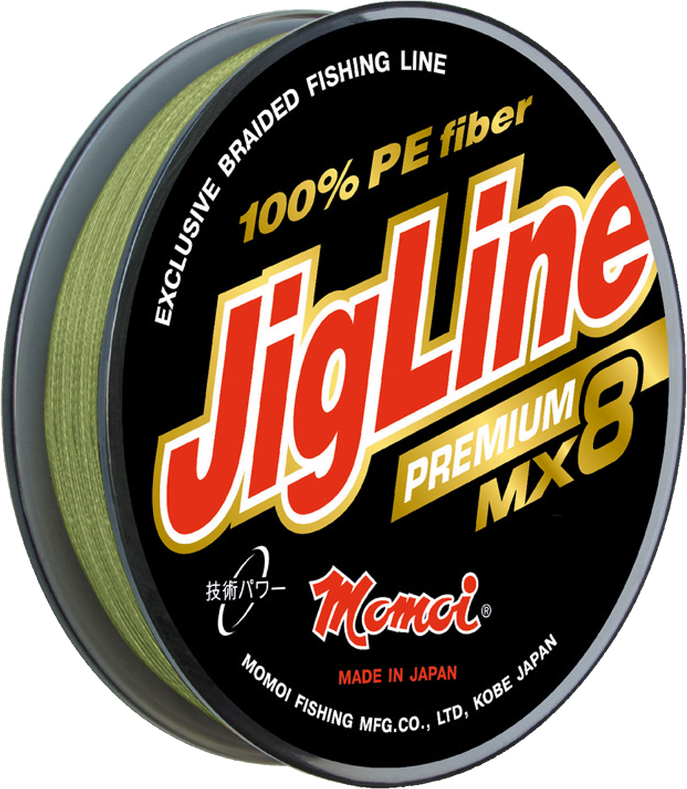 Шнур плетеный Momoi Fishing JigLine Premium WX8, 0,30 мм, 26 кг, 100 м