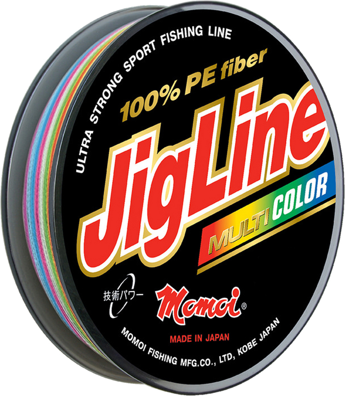 Шнур плетеный Momoi Fishing JigLine Multicolor, 0,35 мм, 30 кг, 100 м шнур плетеный momoi fishing jigline multicolor 0 27 мм 22 кг 100 м
