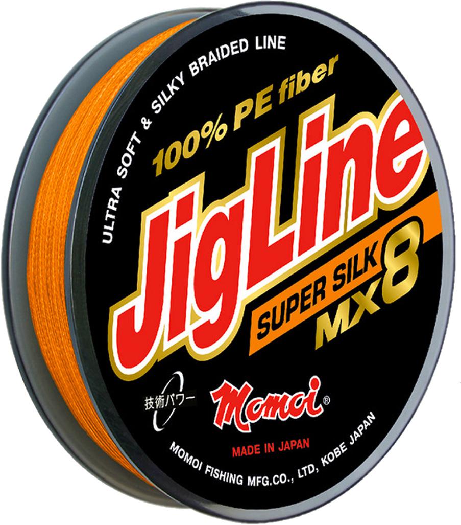 Шнур плетеный Momoi Fishing JigLine MX8 Super Silkr, 0,30 мм, 26 кг, 100 м7650Обладатель подобного шнура получает возможность точно делать дальние забросы сверх легких приманок, блесен вертушек не опасаясь обрывов при зацепах.