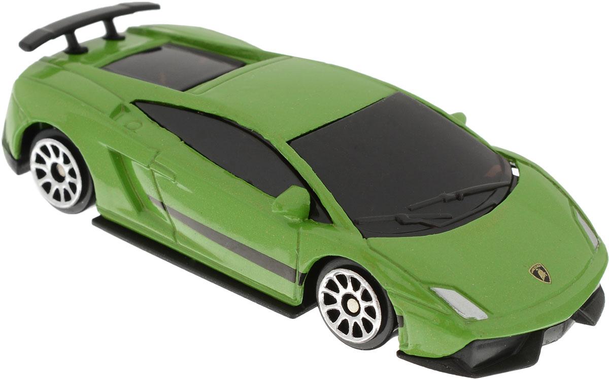 Рыжий Кот Модель автомобиля Lamborghini цвет зеленый И-1184