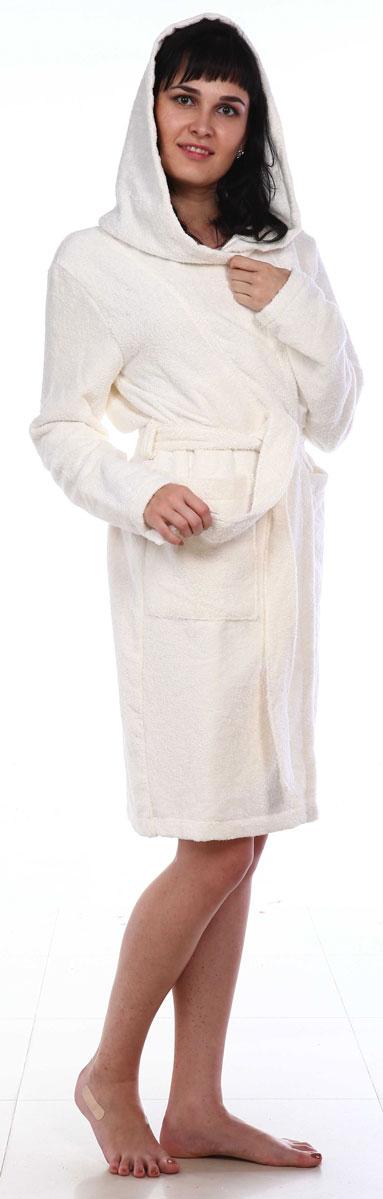 Халат женский Amo La Vita, цвет: белый. ХМХ0201. Размер 50 слингобусы ti amo мама слингобусы алба
