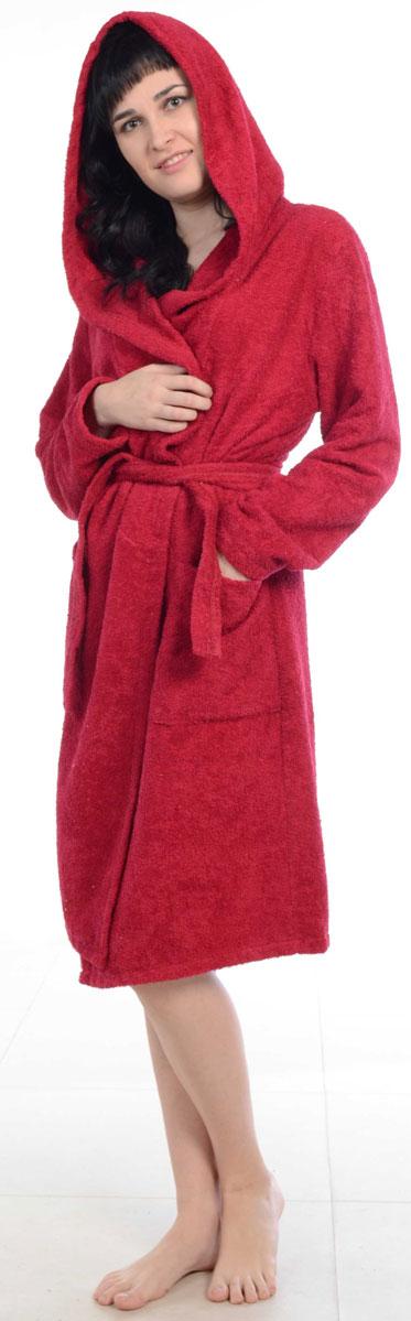 Халат женский Amo La Vita, цвет: бордовый. ХМХ0222. Размер 50 слингобусы ti amo мама слингобусы алба