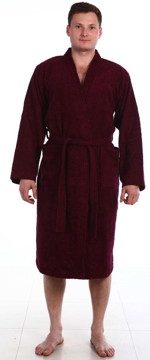 Купить Халат мужской Amo La Vita, цвет: бордовый. ХМХМ0223. Размер 48