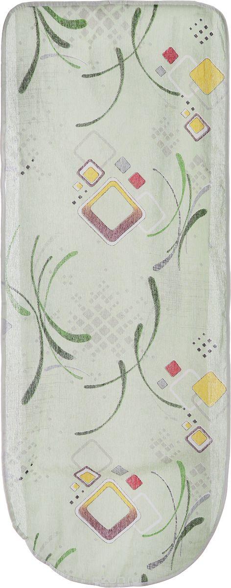 Чехол для гладильной доски Detalle, цвет: зеленый, желтый, салатовый, 120 см х 42 смЕ1301_зеленый, желтый, салатовыйЧехол для гладильной доски Detalle, выполненный из хлопка с подкладкой из мягкого войлока, предназначендля защиты или замены изношенного покрытия гладильной доски. Из войлочного полотна вы можете вырезатьподкладку любого размера, подходящую именно для вашей доски.Чехол препятствует образованию блеска и отпечатков металлической сетки гладильной доски на одежде.Этот качественный чехол обеспечит вам легкое глажение.Состав: хлопок, пэф. Размер чехла: 125 см x 47 см.Размер войлочного полотна: 130 см х 52 см.Размер доски, для которой предназначен чехол: 120 см x 42 см.