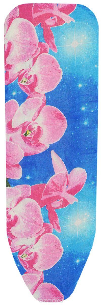 Чехол для гладильной доски Eva, с поролоном, цвет: синий, розовый, 120 х 38 смЕ1303_синий, розовый цветокХлопчатобумажный чехол Eva с поролоновым слоем продлит срок службы вашей гладильной доски. Чехол снабжен прочной резинкой, при помощи которой вы легко зафиксируете его на рабочей поверхности гладильной доски.Чехол для гладильной доски Eva обеспечит простой и безопасный процесс глажения. Размер чехла: 120 х 38 см. Максимальный размер доски: 129 х 45 см.