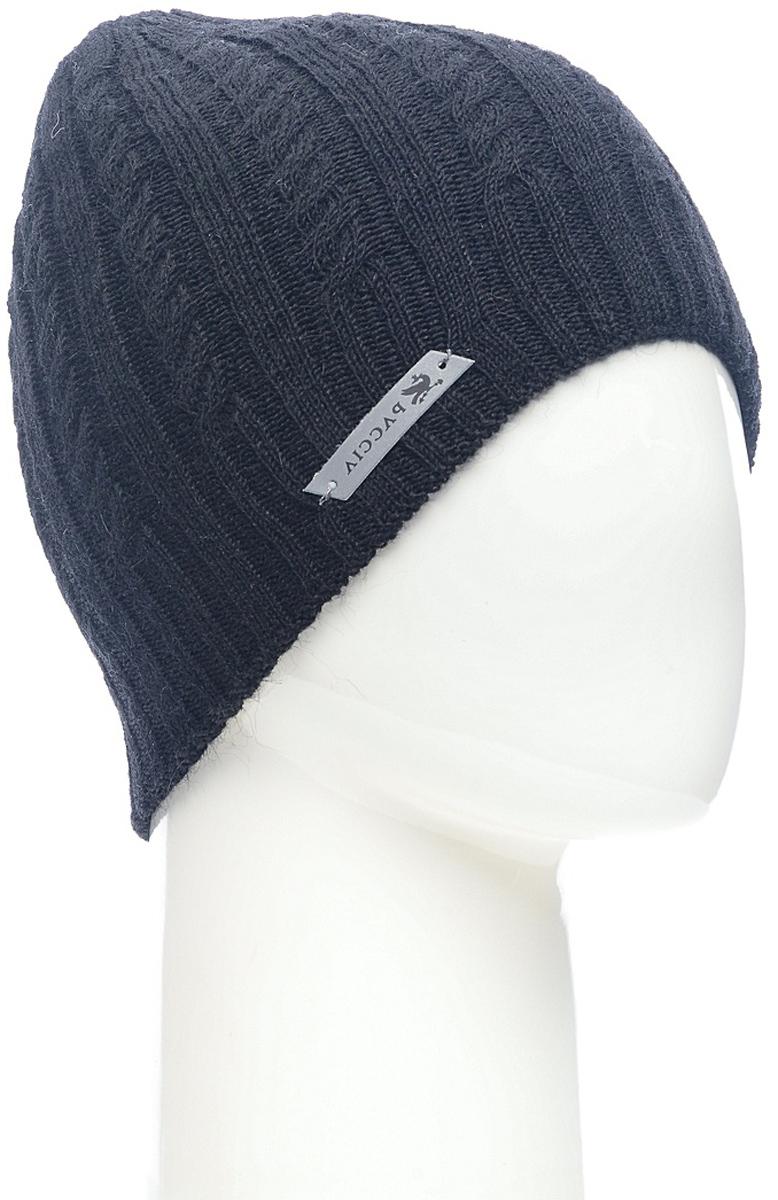 Шапка женская Paccia, цвет: черный. NR-21715-3. Размер 55/58NR-21715-3Вязаная женская шапка Paccia выполнена из акрила с добавлением шерсти. Эта шапка не только согреет в прохладную погоду, но и стильно дополнит ваш образ.
