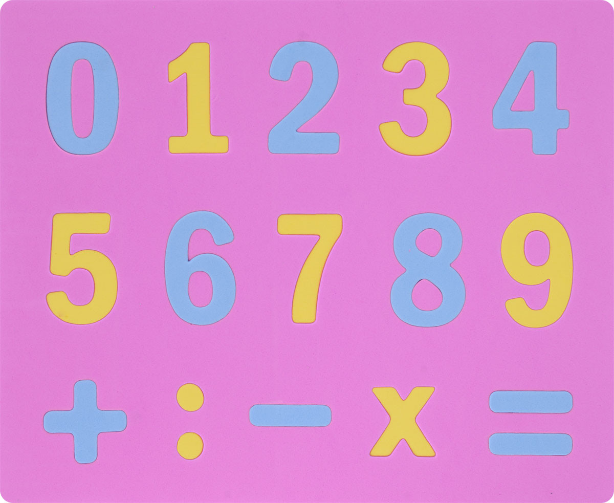 Апплика Мозаика Мягкие цифры цвет основы розовый апплика мозаика мерцающая осьминоже