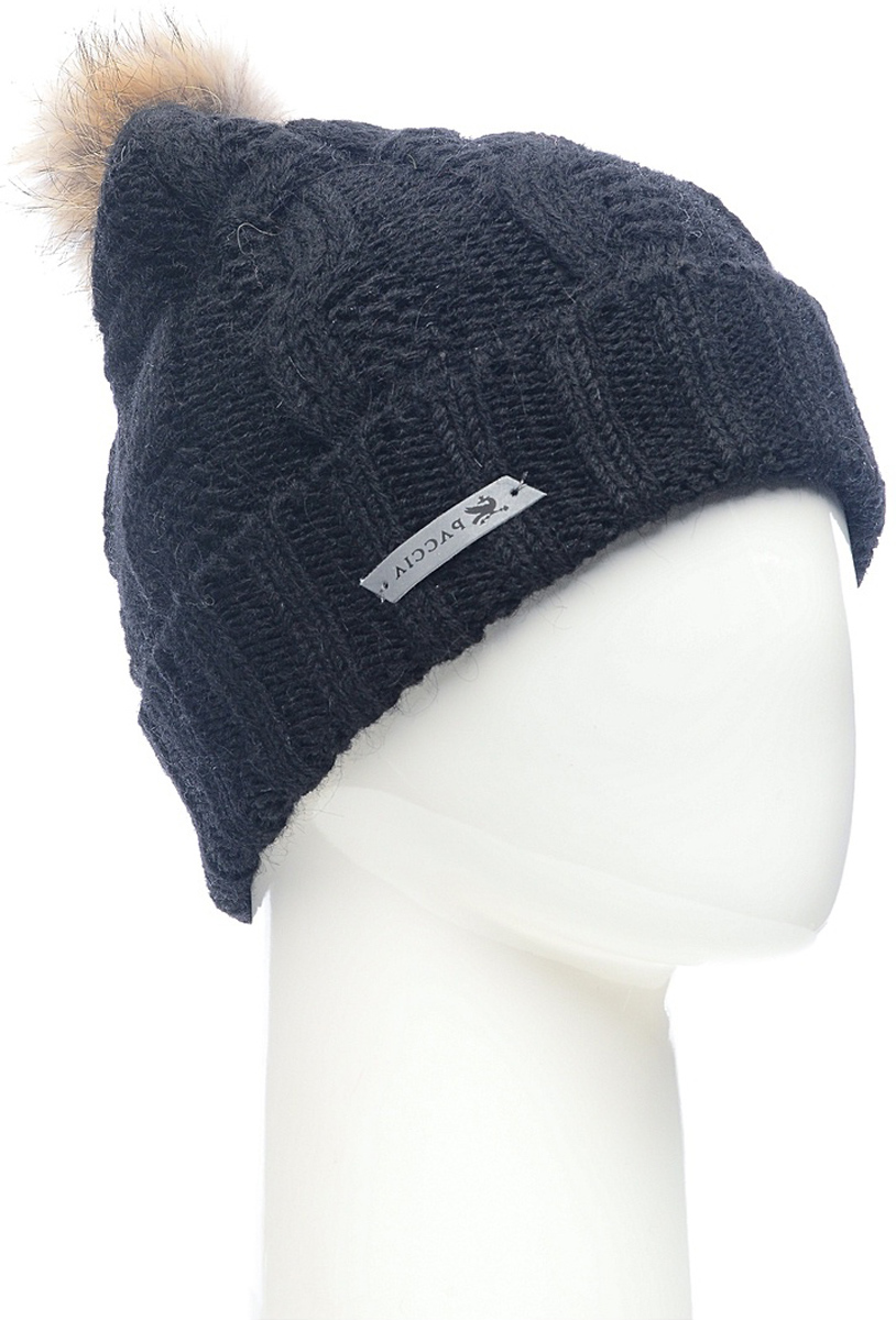 Шапка женская Paccia, цвет: черный. NR-21711-3. Размер 55/58NR-21711-3Стильная женская шапка-бини Paccia выполнена из акрила с добавлением шерсти. Модель дополнена меховым помпоном. Эта шапка не только согреет в холодную погоду, но и стильно дополнит ваш образ.