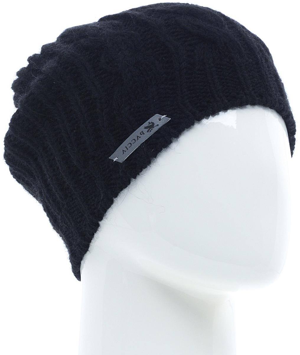 Шапка женская Paccia, цвет: черный. NR-21708-3. Размер 55/58NR-21708-3Вязаная женская шапка-бини Paccia выполнена из акрила с добавлением шерсти. Эта шапка не только согреет в холодную погоду, но и стильно дополнит ваш образ.