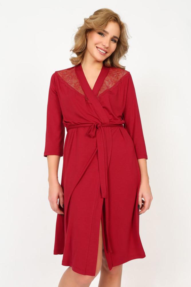 Пеньюар Melado Реверанс, цвет: бордовый. MO2307/01. Размер 52 платья melado платье камея