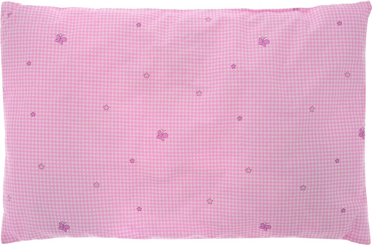Сонный гномик Подушка детская Бабочки цвет розовый 60 х 40 см555Б_розовый, бабочкиМягкая тонкая подушка для детской кроватки Сонный гномик обеспечиткрепкий и здоровый сон вашему малышу. Подушка имеет несъемный чехолиз прочного безопасного хлопка. Хлопок - натуральный материал, обладающийвысокой гигроскопичностью и воздухопроницаемостью, он будет безопасендаже для нежной кожи ребенка. Наполнитель подушки - синтепон. Синтепонгипоаллергенен, долговечен, не скатывается и превосходно пропускает воздух. Удобная подушка из безопасных материалов идеально подойдет длядетской кроватки, с ней дневной и ночной сон ребенка всегда будет крепким.