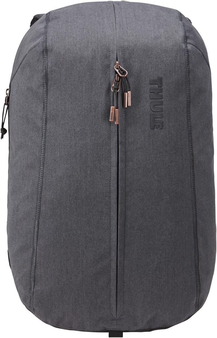 Рюкзак городской Thule Vea Backpack, цвет: черный, 17 л3203506Стильный рюкзак предназначен для перемещения между офисом и тренажерным залом, позволяя хранить вещи для занятий спортом и работы отдельно друг от друга. Особенности:Специальные накладные карманы с мягкой подкладкой для защиты MacBook с диагональю экрана 15 дюймов и планшета с диагональю экрана 10 дюймов.Храните все необходимые для работы вещи в специальном отделении, предназначенном для ноутбуков, планшетов, файлов, ручек, паспортов, USB-накопителей, небольших шнуров и аксессуаров.Во внешнем потайном кармане удобно хранить телефон или легкий перекус.Просторное главное отделение имеет удобную застежку на молнии по типу спортивной сумки, благодаря чему вы можете легко класть туда все необходимое и так же легко его доставать.В растягивающемся внутреннем кармане можно хранить обувь или грязную одежду.Внутренние сетчатые карманы предназначены для хранения вещей, необходимых при походе в спортзал: от замка, ключей и карты доступа до расчески и туалетных принадлежностей.Светоотражающие элементы на передней части сумки и наплечных ремнях обеспечат безопасность на дороге.Наплечные ремни рюкзака фиксируются с помощью регулируемого нагрудного ремня.Наплечные ремни с мягкой подкладкой и задняя панель с вентиляционным каналом обеспечивают комфорт при ношении рюкзака.Быстрый и удобный доступ к содержимому благодаря надежным молниям YKK с язычками с надписью Thule и фурнитурой Duraflex.
