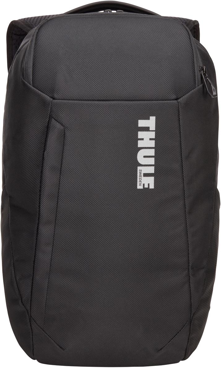 Рюкзак городской Thule Accent Backpack, цвет: черный, 20 л3203622Современный рюкзак для профессионалов с отделением для защиты электронных устройств и универсальным отделением SafeZone для ценных вещей. Особенности:Специальные карманы подходят для MacBook с диагональю 15 дюймов, ноутбуков с диагональю 14 дюймов и планшетов с диагональю 10 дюймов. Отделение SafeZone с потайным карманом, расположенным за съемной чашкой с твердым каркасом, поможет защитить телефон, очки и другие ценные вещи. Передний карман удобен для хранения небольших аксессуаров и быстрого доступа к ним. Во внутренних карманах небольшие предметы будут в безопасности, а достать их будет очень легко. Специальная панель для надежного крепления сумки к чемодану на колесиках помогает путешествовать с удобством. В сетчатых боковых карманах удобно хранить бутылки с водой.Наплечные ремни EVA с сетчатым покрытием и регулируемый нагрудный ремень обеспечивают комфорт.