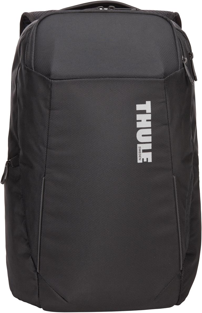 Рюкзак городской Thule Accent Backpack, цвет: черный, 23 л3203623Профессиональный туристический рюкзак с отделением для защиты электронных устройств и универсальным отделением SafeZone для ценных вещей. Особенности: Специальные карманы подходят для MacBook с диагональю 15 дюймов, ноутбуков с диагональю 15,6 дюйма и планшетов с диагональю 10 дюймов.Отделение SafeZone с потайным карманом, расположенным за съемной чашкой с твердым каркасом, поможет защитить телефон, очки и другие ценные вещи.Снаряжение можно хранить во вместительном отделении с боковым доступом, а большой сетчатый карман внутри него отлично подойдет для мелких предметов.Во внутренних карманах небольшие предметы будут в безопасности, а достать их будет очень легко.Специальная панель для надежного крепления сумки к чемодану на колесиках помогает путешествовать с удобством.В сетчатом боковом кармане удобно хранить бутылку с водой, а нужные мелочи не потеряются в регулируемом боковом кармане с молнией.Наплечные ремни EVA с сетчатым покрытием и регулируемый нагрудный ремень обеспечивают комфорт.