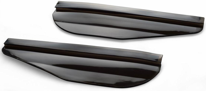 Набор козырьков Ruges Обзор, на боковые зеркала автомобиля, цвет: черныйA-3Снег и капли дождя на зеркалах бокового обзора - существенное неудобство для водителя. Неудобство, которое влияет на безопасность движения, ухудшая видимость. Набор козырьков на боковые зеркала автомобиля «ОБЗОР» создан для защиты зеркал от осадков и брызг. Легко и быстро крепятся на двусторонний скотч на внутреннюю сторону корпуса зеркала. Подходят практически для любых марок автомобилей. Существенно сокращают количество воды, грязи и снега на зеркалах. И ваша поездка становится приятнее и безопаснее! Размер: 18х6х0,3 см. Вес: 50 г. Комплектация: козырек – 2 шт.; инструкция.
