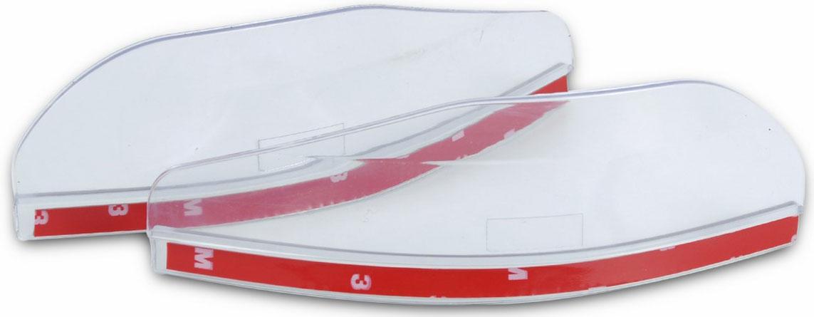 Набор козырьков Ruges Обзор, на боковые зеркала автомобиля, цвет: прозрачныйA-5Снег и капли дождя на зеркалах бокового обзора - существенное неудобство для водителя. Неудобство, которое влияет на безопасность движения, ухудшая видимость. Набор козырьков на боковые зеркала автомобиля «ОБЗОР» создан для защиты зеркал от осадков и брызг. Легко и быстро крепятся на двусторонний скотч на внутреннюю сторону корпуса зеркала. Подходят практически для любых марок автомобилей. Существенно сокращают количество воды, грязи и снега на зеркалах. И ваша поездка становится приятнее и безопаснее! Размер: 18х6х0,3 см. Вес: 50 г. Комплектация: козырек – 2 шт.; инструкция.