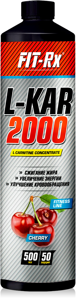 "Сироп для безалкогольного напитка FIT-Rx ""L-KAR 2000"", со вкусом вишни, 500 мл"