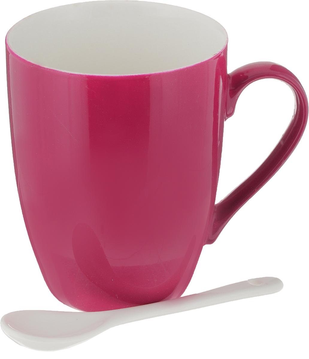 Кружка Доляна Радуга, с ложкой, цвет: красный, 300 мл699262_красныйКружка Доляна Радуга изготовлена из высококачественной керамики. Изделие оформлено ярким дизайном и покрыто превосходной сверкающей глазурью. Изысканная кружка прекрасно оформит стол к чаепитию и станет его неизменным атрибутом.В комплект входит чайная ложечка.Диаметр кружки (по верхнему краю): 8 см.Высота кружки: 10 см.