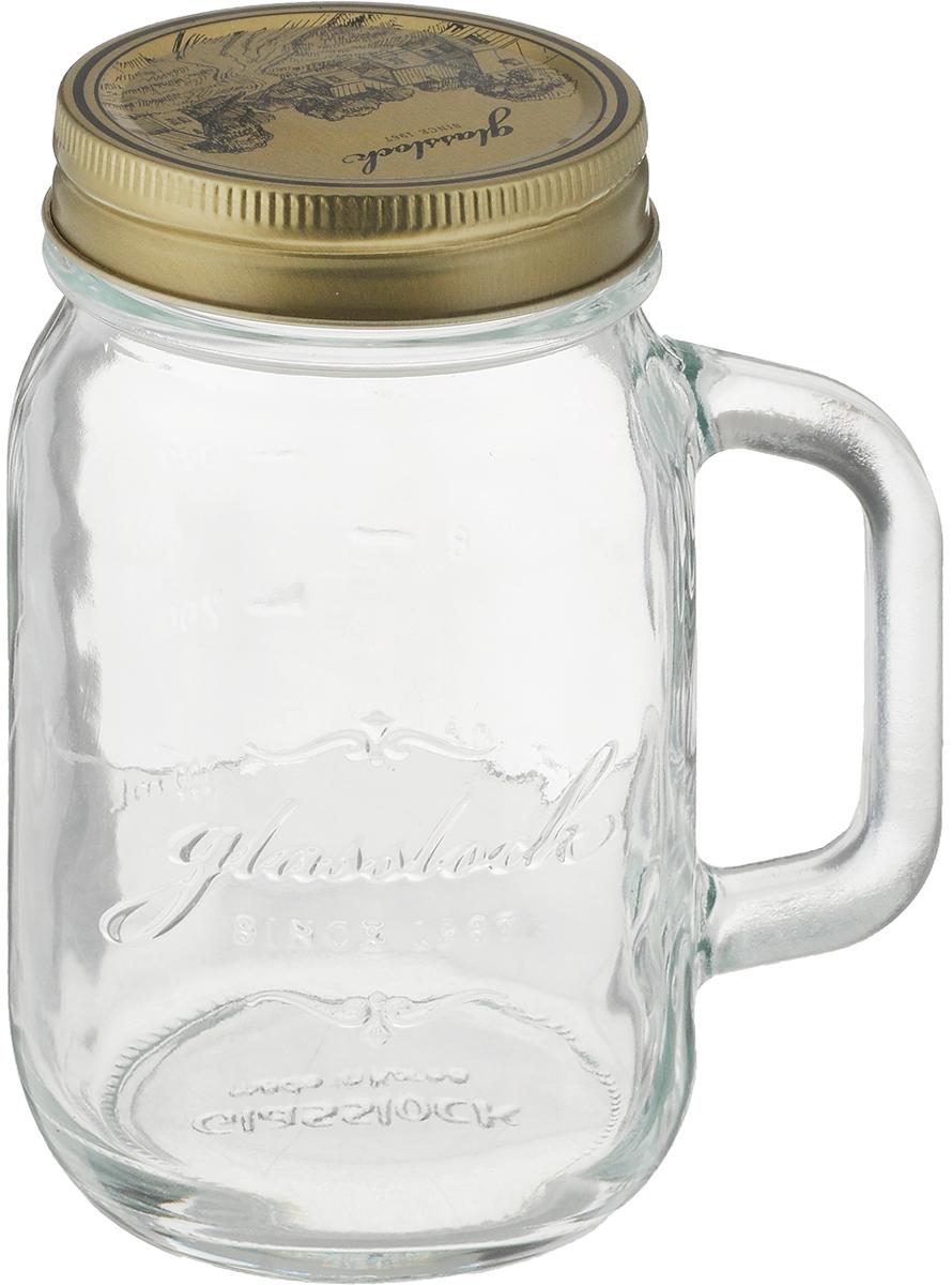 Банка для сыпучих продуктов Glasslock, с ручкой, цвет: прозрачный, 500 мл цена