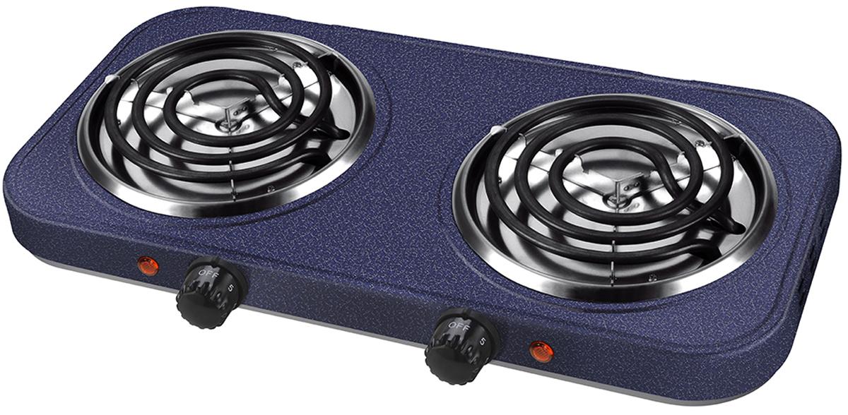 Lumme LU-3611, Dark Topaz электроплиткаLU-36112 конфорки d=13см, корпус-сталь, 3 режима нагрева, нагревательный элемент - сталь, индикатор нагрева, мощность - 2000W