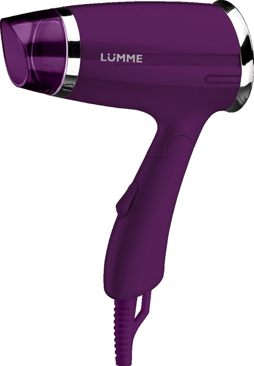 Lumme LU-1042, Purple Amethyst фенLU-1042Lumme LU-1042 - компактный 1,4-киловаттный фен из высококачественного термостойкого пластика с двумя режимами мощности для выбора оптимального воздушного потока.Идеален, чтобы брать его с собой в дорогу или хранить в небольшом ящике с одеждой. Благодаря складной ручке фен занимает минимум места при хранении и транспортировке.Удобный переключатель мощности воздушного потока на два положения: для бережной укладки или интенсивной сушки волос.Концентратор для укладки волос позволит точнее направлять воздушный поток, а удобная петелька для подвешивания - хранить фен всегда под рукой.Полную безопасность при использовании фена обеспечивает функция автоматического отключения при перегреве.Компактный фен Lumme LU-1042 дома и в путешествии - это гарантия отличной прически на каждый день.