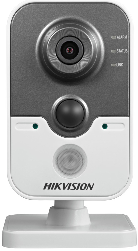 Hikvision DS-2CD2442FWD-IW 2mm камера видеонаблюдения4021194Мп компактная IP-камера с W-Fi и ИК-подсветкой до 10м 1/2.8 Progressive Scan CMOS; объектив 2мм; угол обзора 126°; механический ИК-фильтр; 0.01лк@F1.2; сжатие H.264/MJPEG/H.264+; двойной поток; 2688?1520@20к/с, 1920?1080@25к/с; WDR 120дБ, 3D DNR, BLC, ROI; обнаружение движения, вторжения в область и пересечения линии; слот для microSD до 128Гб; встроенные микрофон и динамик; тревожные вход/выход 1/1; PIR-датчик; 1 RJ45 10M/100M Ethernet; DC12В± 10%/PoE(802.3af); 5Вт макс; -20 °C...+60 °C; вес 0.4кг.