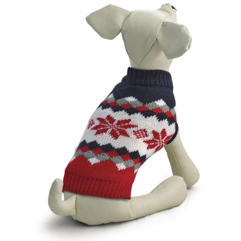 Свитер для собак Triol Винтаж, унисекс, цвет: красный, черный. Размер XXL