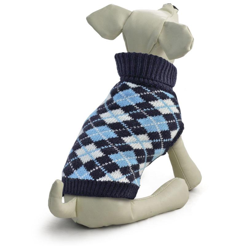 Свитер для собак Triol Классика, унисекс, цвет: темно-синий. Размер M сапоги резиновые для собак triol унисекс цвет синий размер m