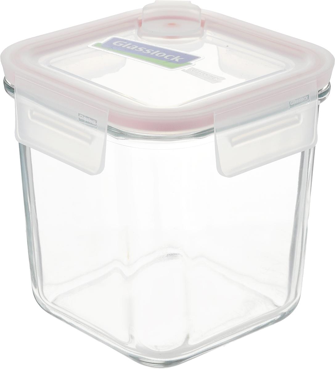 """Контейнер """"Glasslock"""", квадратный, цвет: прозрачный, 920 мл"""