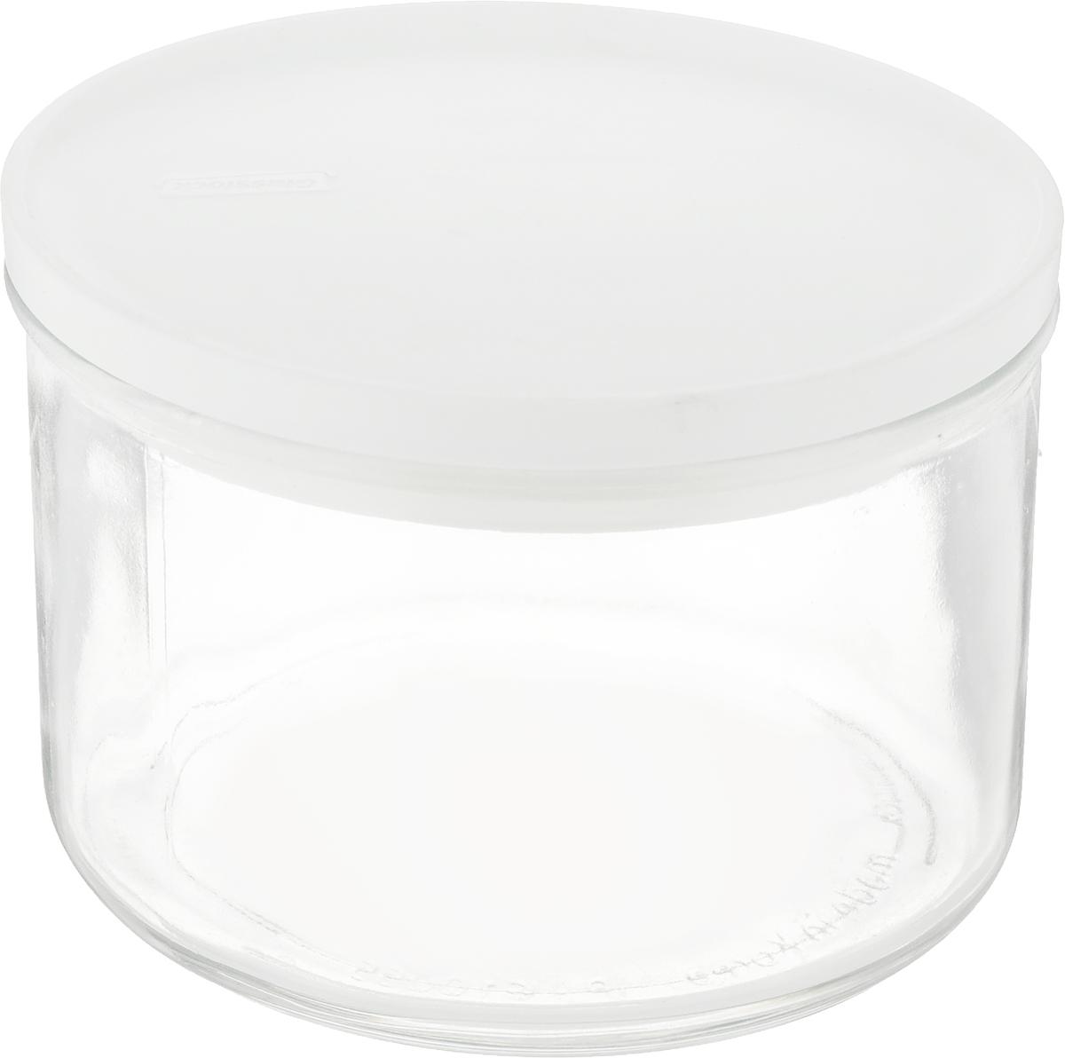 Банка для сыпучих продуктов Glasslock, круглая, цвет: прозрачный, 550 млIP-611Банка Glasslock, выполненная из стекла, отлично подойдет для хранения сыпучих продуктов. Пластиковая крышка с силиконовой прослойкой плотно закрывается с помощью 4 защелок, дольше сохраняя свежесть продуктов. Изделие устойчиво к внешним воздействиям, не пропускает влагу, пыль и запахи. Такая банка стильно дополнит интерьер и поможет дольше хранить продукты. Диаметр банки (по верхнему краю): 11 см.Высота банки (с учетом крышки): 8 см.