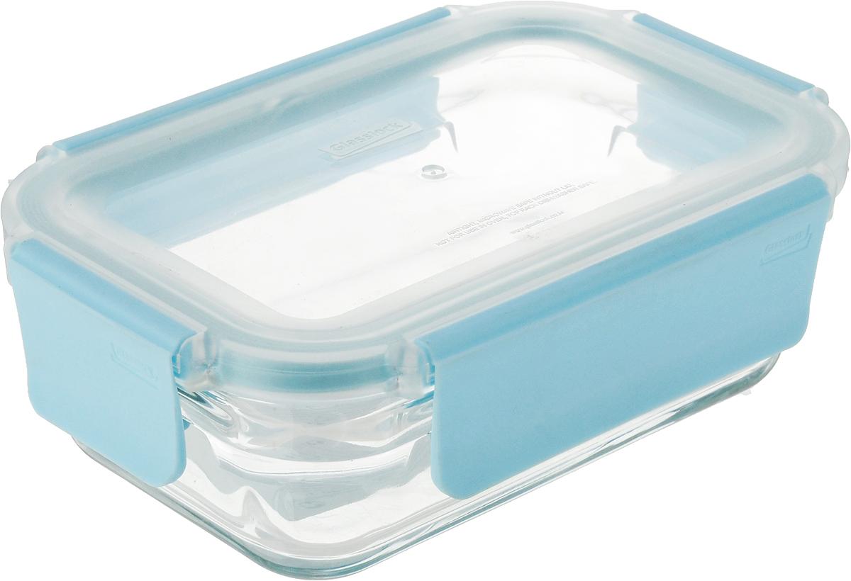 Контейнер Glasslock, прямоугольный, цвет: прозрачный, 390 мл набор контейнеров для сыпучих продуктов glasslock цвет прозрачный синий 3 предмета