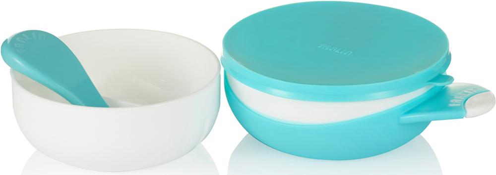 Farlin Набор посуды для кормления цвет голубой 4 предмета
