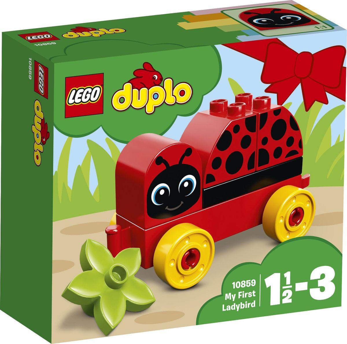 LEGO DUPLO My First Конструктор Моя первая божья коровка 10859 lego lego duplo 10586 фургон с мороженым
