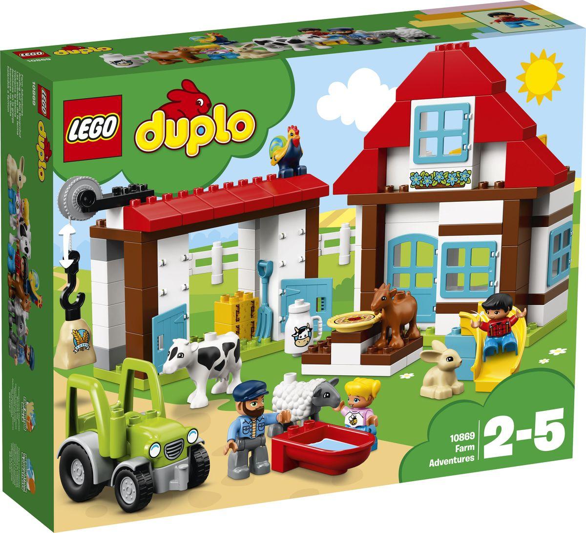 LEGO DUPLO Town Конструктор День на ферме 10869 lego duplo my first конструктор мои первые домашние животные 10858