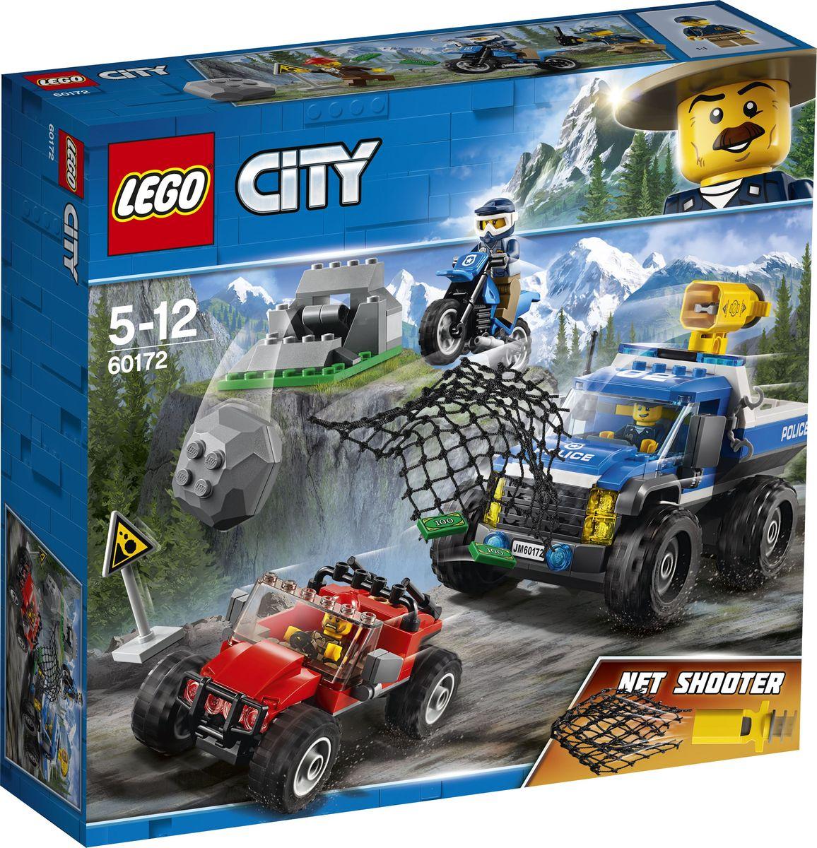 LEGO City Police Конструктор Погоня по грунтовой дороге 60172 lego горный внедорожник 70589