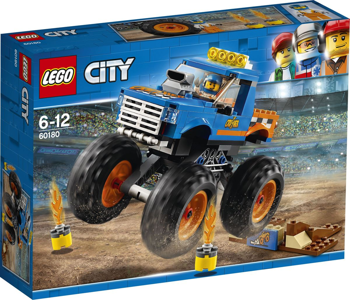 LEGO City Great Vehicles Конструктор Монстр-трак 60180 жми на газ